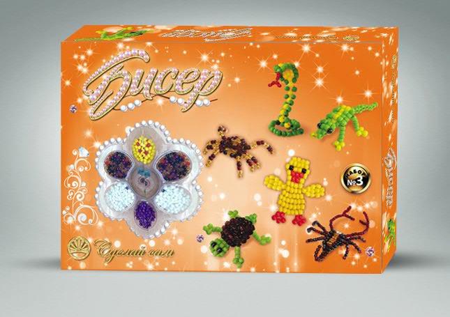 Наш набор имеет все, чтобы Ваш ребенок смог сделать своими руками обьемные изделия из красивого бисера.
